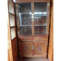 供应花梨木玻璃柜 实木文件储物柜 中式落地收纳柜 书房办公红木家具