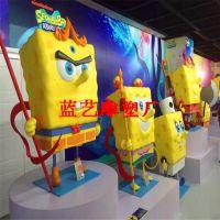 厂家专业生产海绵宝宝造型卡通雕塑