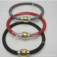 硅胶手环 不锈钢磁铁扣手镯手环 女式手环批发 东莞首饰厂家