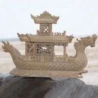 厂家批发 手工雕刻小船木制品工艺 小叶紫檀摆件 可来图来样定制