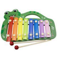 厂家直销 动物八音敲琴 木制提手青蛙手敲木琴 8音益智木制玩具