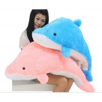 长毛海豚娃娃 超大号2米海豚毛绒玩具公仔抱枕靠垫 生日礼物