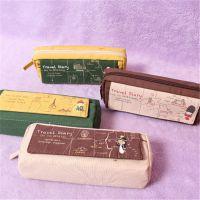 批发斯普维加萨然旅行系列翻盖笔袋  韩版帆布方形笔袋  学生笔袋