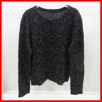 供应中老年女式针织衫加工定做 印花涤棉做旧套头衫小批量来样版加工