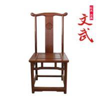 实木家具/大果紫檀红木/缅甸花梨餐椅办公椅/中式仿古简洁单人椅