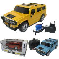 1:18包电包充悍马四通遥控车 带前车灯 儿童玩具批发混批