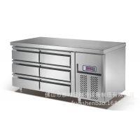 抽屉式冷柜 全不锈钢冷柜 全铜管厨房冰箱 酒店厨房设备平台雪柜