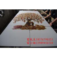 批发亚克力彩印机/玻璃陶瓷打印机/金属各种材质LOGO高清彩印万能打印机金属工艺品印刷机