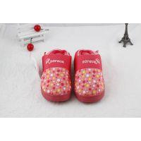 冬季居家棉拖鞋 舒乐佳防雨布棉拖圆点多色情侣棉鞋