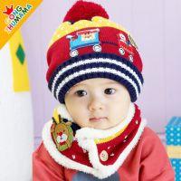 一件代发批发公主妈妈儿童帽婴儿帽圣诞帽冬季宝宝帽围脖套装帽