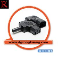 C13插座 C14插头 公母对接插头插座 90度弯角插头插座