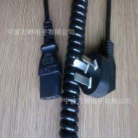 厂家直销3C认证弹簧线 PVC材质国标三插电源线弹簧线 国标插头线