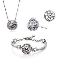 零利润水晶项链耳环手链三件套-怜星(圣光)1226-200(多色)