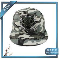 订做户外平板嘻哈帽 迷彩作训帽 DEADEND刺绣迷彩街舞帽子定制