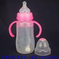 硅胶婴儿奶瓶 批发 宽口 防烫 带柄 无异味 分类 厂商 型号 大小