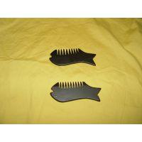 正宗泗滨砭石梳子 多功能刮痧板 砭石小耳朵梳子 保健差生梳子