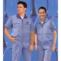 上海定做夏季短袖工服涤棉半袖工作服订制厂服工程服套装定制厂家