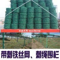 刺绳围网、刺绳铁丝网、带刺防护网—刺绳批发/价格