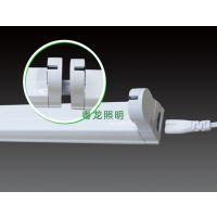 采购灯管支架 教室T8LED灯管支架,17年行业经验粤龙照明厂家直销