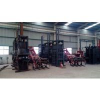 供应HL/华龙HL-100吨立式废纸打包机,压力大,包的密度大