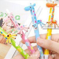 厂家直销 日韩学生文具卡通笔甜美长颈鹿 可爱花式笔身圆珠笔