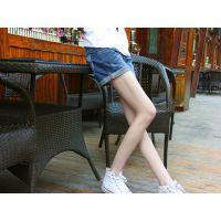 韩版新款女装牛仔裤 拉链靴裤 热裤 女式牛仔裤短裤 批发
