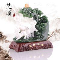 羊年三阳开泰羊笔筒 办公桌摆件 实用创意商务礼品 树脂工艺品
