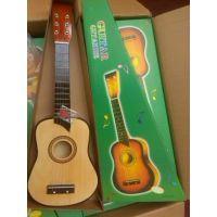供应25寸吉他 6弦小吉他 儿童吉他 原木色 玩具 送拨片 琴弦 乐器批发