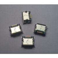 供应【MICRO USB 5P】插板5.9脚长1.25有柱短针】