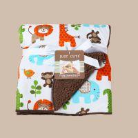 童毯外贸 婴儿毛毯双层春夏抱毯宝宝毛毯卡通印花毛毯批发 卡思卡
