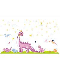 AY895恐龙贴纸儿童房装饰墙贴画 客厅卧室大型背景墙壁