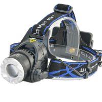 供应狼眼led充电头灯 10wt6头灯 伸缩变焦 大功率充电头灯批发