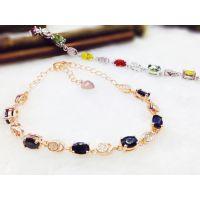 供应新款S925碧玺系列款式采用珠宝级工艺制作手链多种颜色首饰批发
