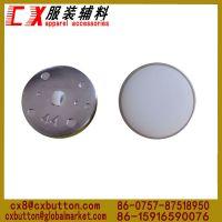 钮扣厂长期供应ABS塑料电镀纽扣 高档有脚塑料电镀纽扣 塑料扣子