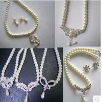 新娘饰品 珍珠项链耳环两件套装结婚饰品 喜庆用品批发 厂家直销