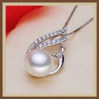 凤凰造型镶钻10-105mm馒头圆扁圆形天然珍珠吊坠项链女款饰品