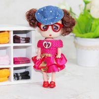 厂家直销 毛绒玩具公仔迷糊娃娃挂件 精品点钻毛衣眼镜美少女