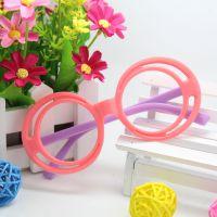男女潮款 2014新款儿童可爱花朵炫彩眼镜框无镜片环保眼镜架W015