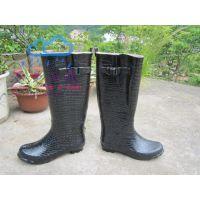 供应2013新品 气质款鳄鱼皮 女士雨鞋 雨靴
