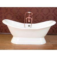 奢华品质-欧式铸铁贵妃浴缸 皇家经典帝王浴缸带脚双人浴缸