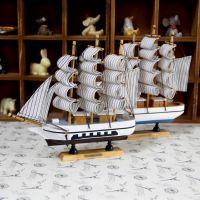 地中海 帆船模型船成品工艺品 地中海帆船一帆风顺船道具摆件