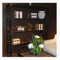 环宇美式乡村置物架铁艺简易书架创意实木书架学生书架可定做