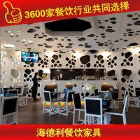 专业设计 欧式大理石餐台 学生桌子 厂家专业生产 深圳海德利家具 专业餐饮家具定制