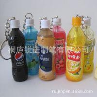 【日韩文具批发】供应饮料形状圆珠笔,饮料广告笔,可爱卡通笔