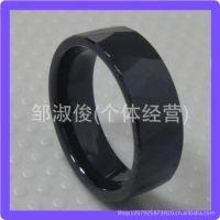 经典黑色 ***刮花 钨钢戒指  现货供应