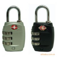 大量供应出口欧美高质量TSA密码锁旅游拉链锁挂锁旅行箱包锁