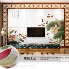 供应阿兰贝尔艺术背景墙是用什么机器做的 瓷砖背景墙彩雕工艺