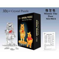 批发自装维尼熊水晶积木 自装水晶积木拼图 3D水晶益智玩具