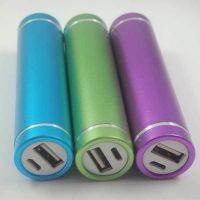 2600毫安 移动电源 圆柱形携带方便 时尚通用型圆筒充电宝带线