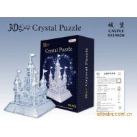 厂家直销 自装城堡水晶拼图 3D城堡拼图 自装城堡